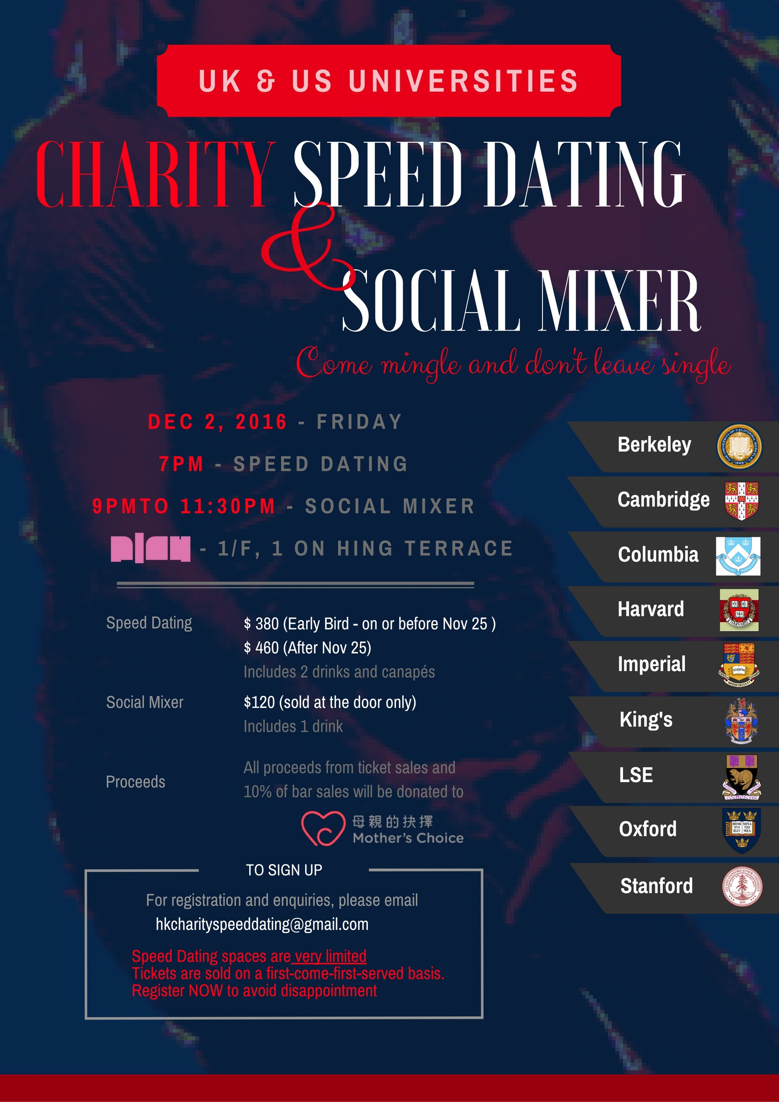 Harvard mit speed dating